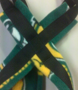 Packers on Black Recreational Sled Dog Harness 2